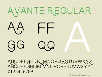 Avante Regular Version 1.00 November 11, 2014, initial release Font Sample