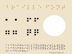 Braille Font Version 001.000 Font Sample