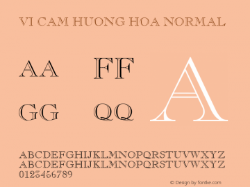 VI Cam Huong Hoa Normal 1.0 Wed Mar 16 14:48:43 1994 Font Sample