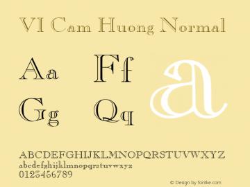 VI Cam Huong Normal 1.0 Wed Mar 16 14:52:54 1994 Font Sample