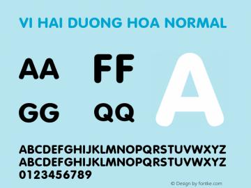 VI Hai Duong Hoa Normal 1.0 Wed Mar 16 14:57:07 1994 Font Sample
