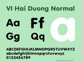 VI Hai Duong Normal 1.0 Wed Mar 16 14:59:15 1994 Font Sample