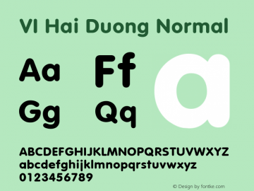 VI Hai Duong Normal 1.0 Wed Mar 16 14:59:15 1994 Font Sample