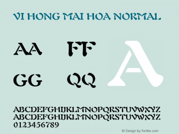 VI Hong Mai Hoa Normal 1.0 Wed Mar 16 15:00:28 1994 Font Sample