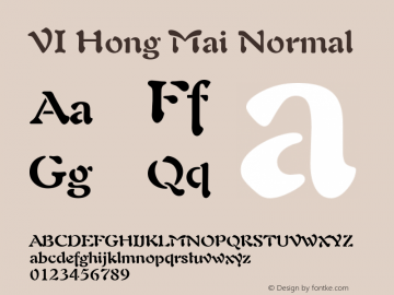 VI Hong Mai Normal 1.0 Wed Mar 16 15:03:33 1994 Font Sample