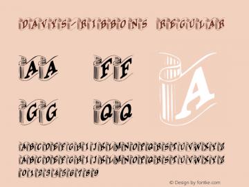 Davys-Ribbons Regular Converted from F:\TTF\DAVYSRIB.TF1 by ALLTYPE Font Sample