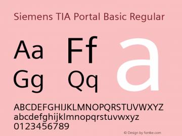 Siemens TIA Portal Basic Regular Version 2.00 Font Sample