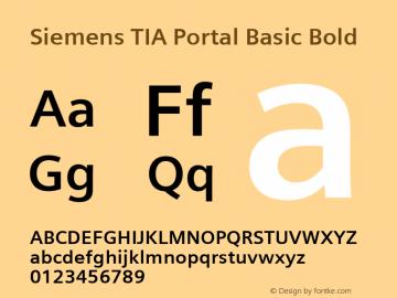 Siemens TIA Portal Basic Bold Version 2.00 Font Sample