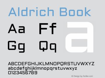 Aldrich Book Version 1.001 2011 Font Sample