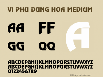 VI Phu Dung Hoa Medium Jan 4 94 Font Sample