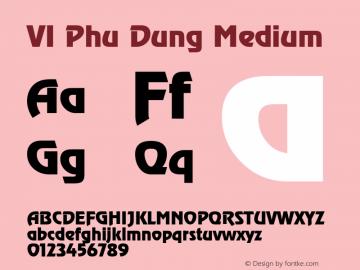 VI Phu Dung Medium Jan 4 94 Font Sample