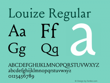 Louize Regular Version 1.000 Font Sample