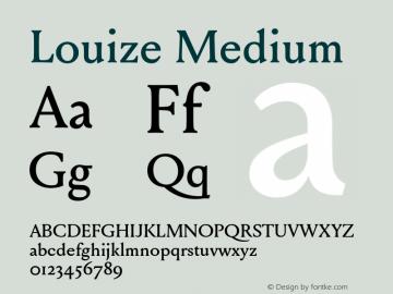Louize Medium Version 1.000图片样张