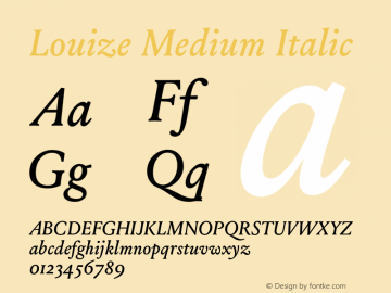 Louize Medium Italic Version 1.000图片样张