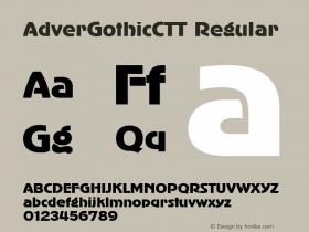 AdverGothicCTT Regular 1.000.000 Font Sample
