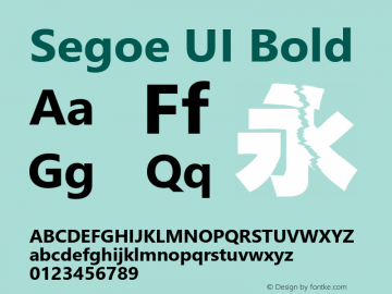 Segoe UI Bold Version 6.30图片样张