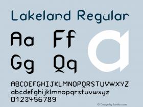 Lakeland Regular Unknown Font Sample