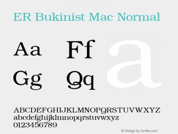 ER Bukinist Mac Normal 4.0 Mon Mar 06 06:34:30 1995图片样张