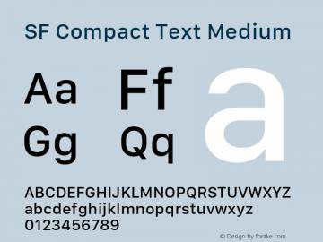 SF Compact Text Medium 11.0d1e1 Font Sample
