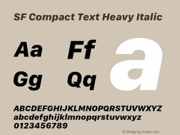 SF Compact Text Heavy Italic 11.0d1e1图片样张