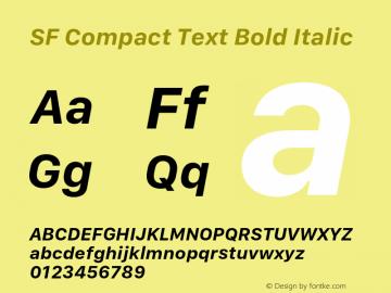 SF Compact Text Bold Italic 11.0d1e1 Font Sample