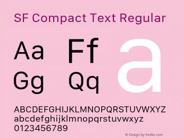 SF Compact Text Regular 11.0d1e1 Font Sample