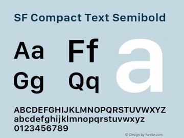 SF Compact Text Semibold 11.0d1e1图片样张