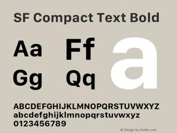 SF Compact Text Bold 11.0d1e1图片样张