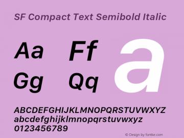 SF Compact Text Semibold Italic 11.0d1e1 Font Sample