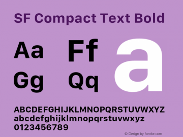 SF Compact Text Bold 11.0d10e2 Font Sample