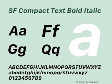 SF Compact Text Bold Italic 11.0d10e2 Font Sample
