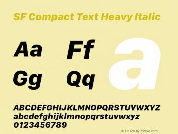 SF Compact Text Heavy Italic 11.0d10e2图片样张