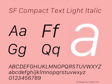SF Compact Text Light Italic 11.0d10e2 Font Sample