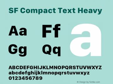 SF Compact Text Heavy 11.0d10e2图片样张