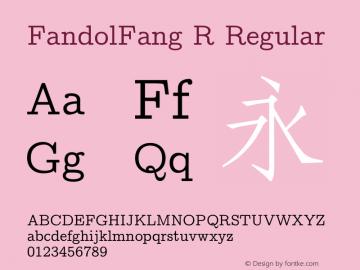 FandolFang R Regular Version 1.300;PS 1;hotconv 1.0.81;makeotf.lib2.5.63406 DEVELOPMENT图片样张