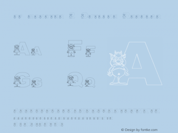 pf_monster-2 Outline Regular 2001; 1.0, initial release Font Sample