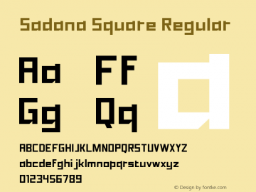 Sadana Square Regular Version 1.1.0 (September 26, 2015)图片样张