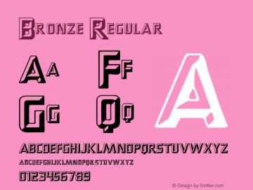 Bronze Regular Macromedia Fontographer 4.1.3 6/10/98图片样张