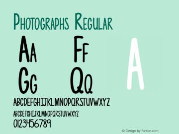 Photographs Regular Version 1.000 Font Sample