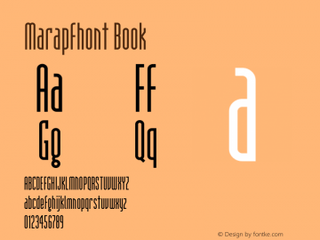 Marapfhont Book Version 0.15 Font Sample