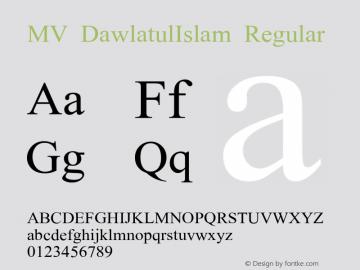 MV DawlatulIslam Regular Version 2.00 (beta)图片样张