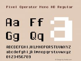 Pixel Operator Mono HB Regular 2016.04.25图片样张