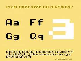 Pixel Operator HB 8 Regular 2016.04.25图片样张