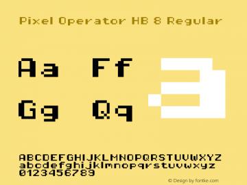 Pixel Operator HB 8 Regular 2016.04.25 Font Sample