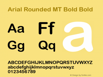 fonte arial rounded mt bold negrito