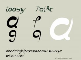 loosy Italic Version 1.000 2006 initial release图片样张