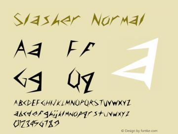 Slasher Normal 1.0 Tue Oct 30 09:42:14 2001 Font Sample