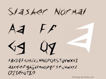 Slasher Normal Altsys Fontographer 4.1 4/28/96 Font Sample