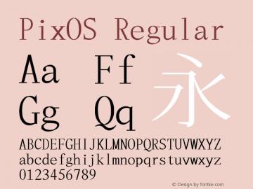 PixOS Regular 0.01; (gw1546090) Font Sample