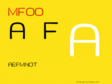 MF_LOGO Regular LOGO Font Sample